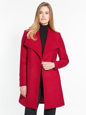 Manteau uni croisé
