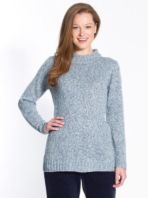 Pull chiné, col montant