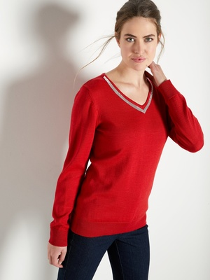 Pull avec strass, 50% laine mérinos