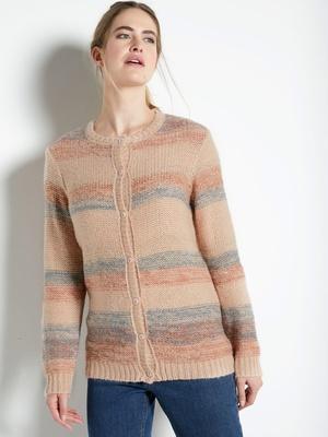 Cardigan  avec mohair et laine