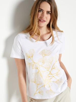 Tee-shirt manches courtes, détails dorés