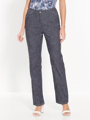 Pantalon en denim flammé