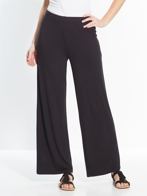 Pantalon large, en maille extensible