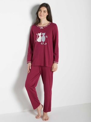 Lot de 2 pyjamas, maille pur coton