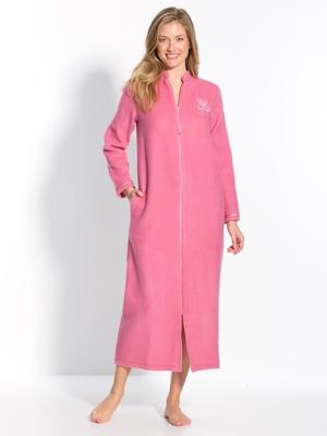 Robe de chambre zip, molleton courtelle