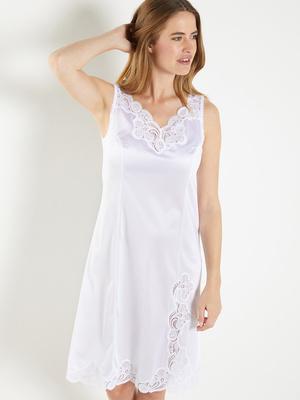 Fond de robe maille satinée, long. 100cm