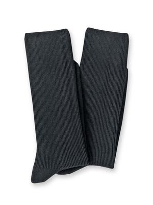 Mi-chaussettes coton, lot de 2 paires