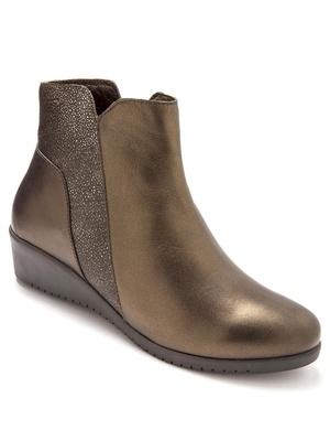 Boots, cuir bicolore