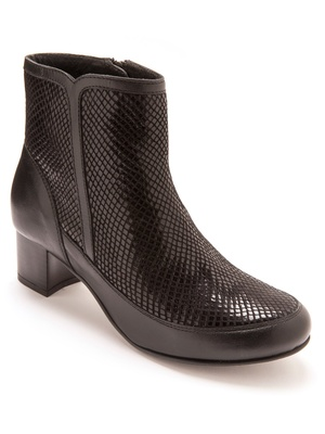 Boots en cuir, à aérosemelle®