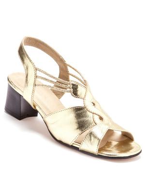 Sandales grande largeur, en cuir