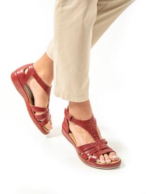 Sandales cuir ajouré