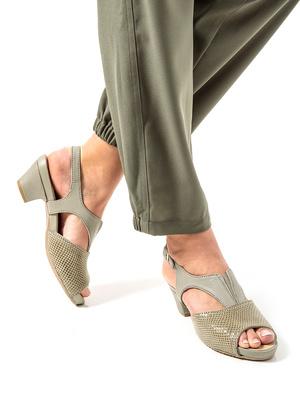 Sandales cuir lisse et façon croco, aéro
