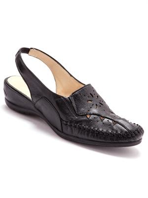 Sandales ajourées, talon 4cm