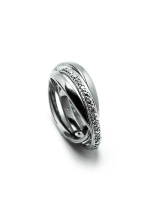 Bague 3 anneaux mobiles argent zirconias